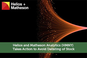 Jeremy Biberdorf-by-Helios and Matheson Analytics (HMNY) Takes Action to Avoid Delisting of Stock
