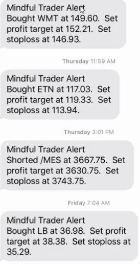 Alertas do Mindful Trader