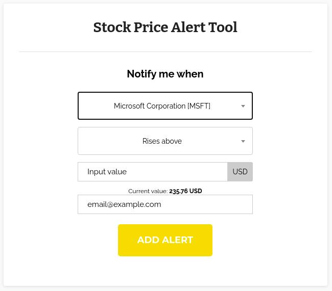 OI Stock Alert Tool