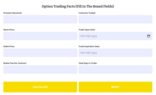 Option Strategies Insider Short Put Calculator